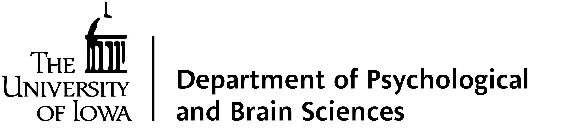 University of Iowa - Dept. of Psychological & Brain Sciences