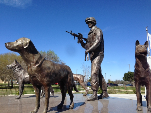 Military Working Dogs National Monument in San Antonio, Texas