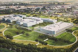 A rendering of the new National Geospatial-Intelligence Agency to be built in St. Louis.
